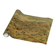 Vintage Pictorial Map of Phoenix Arizona (1885) Wrapping Paper $16.95