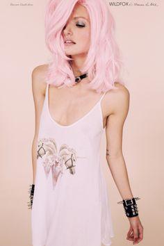 Wildfox Couture x Francesca Lia Block Unicorn Castle Dress Jem Et Les Hologrammes, Pastel Hair, Pastel Goth, Love Hair, Gorgeous Hair, Beautiful, Pretty Hairstyles, Pink Hairstyles, Wildfox