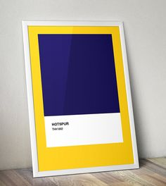 Modern Classics Spurs A4 Football Print in blue by TommySauce, £9.99