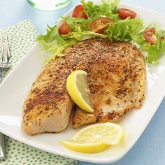 Make perfect, protein-packed TILAPIA tonight: Warm 1 teaspoon olive oil in a sauté pan over medium-high heat. Season a 3-ounce tilapia fillet with a dash each of salt and black pepper. Place in pan and cook until fish flakes easily with a fork (about 2 to 3 minutes per side). | health.com