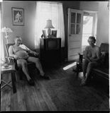 Diane Arbus - Retired man and his wife at home in a nudist camp one morning, N.J. 1963