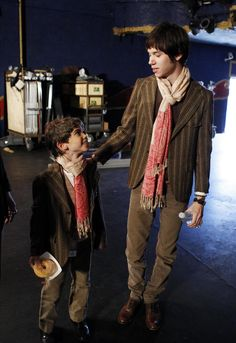 Ryan Ross and that kid who ~obviously~ played him in the video for that green gentleman