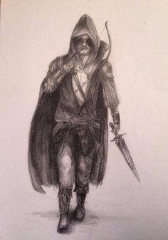 Fantasy ranger pencil drawing    by Ashleigh Hunter