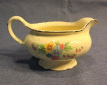 Check out our homer laughlin selection for the very best in unique or custom, handmade pieces from our dining & serving shops. Homer Laughlin, Ceramic Pottery, Home Deco, Farmhouse Decor, Gravy Boats, Virginia, Soup, China, Ceramics