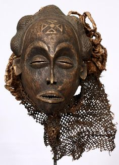 Africa | Mask from the Chokwe people of DR Congo or Angola