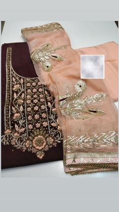 Indian Suits Punjabi, Indian Attire, Indian Wear, Embroidery Suits Design, Embroidery Ideas, Hand Embroidery, Beautiful Dress Designs, Beautiful Dresses, Frock Models