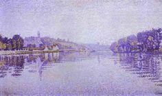 Paul Signac - River's Edge the Seine at Herblay