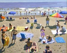 "Beach Escape by Peggi Kroll-Roberts Oil on stretched canvas 24"" x 30"""
