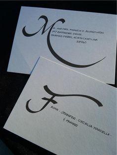 Jennifer Borkowski Designs - calligraphy samples
