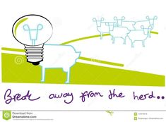 Break away from the herd – illustrations and cartoons