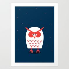 OWL Art Print by vaughn shim - $18.00