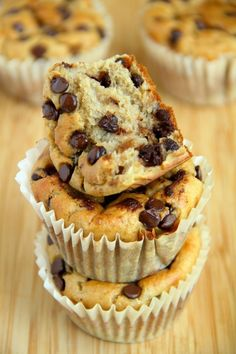 Banana Oat Greek Yogurt Muffins #yogurt #muffins #breakfast