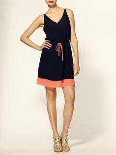 Piperlime   Colorblock Drawstring Dress