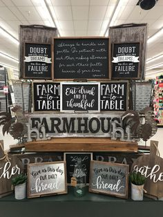 Love my Farm to Table sign. December 2017.