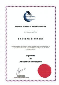Piotr Sikorski on Suomen ensimmäinen ja ainut American Academy of Aesthetic Medicine -johtokunnan sertifioima esteettinen lääkäri.