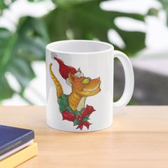 """Christmas Cat"" Mug by Jokertoons   Redbubble Cat Mug, Christmas Cats, Top Artists, Cat Lovers, Mugs, Holiday, Vacations, Tumblers, Holidays"