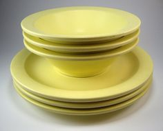 Vintage 1950s Canary Yellow Melmac Plates and by myatticstreasures $14.88 & Reserved for Kate - Dinner Plates and Bowls - Custom order | Bowls ...