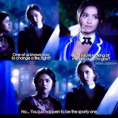 Spencer Hastings, Aria Montgomery, and Emily Fields