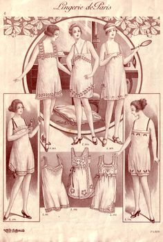 Vintage Lingerie, 1920s Step In not a pattern but a good visual reference
