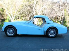 1961-Triumph-TR3. Beautiful lines...too bad the wiring was a mess.