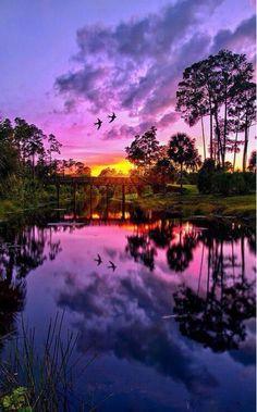 Sunset Reflection in Jupiter, Florida