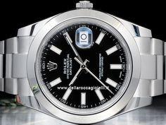 Rolex Datejust II - Ref. 116300 Cassa 41mm in acciaio con vetro zaffiro Quadrante nero Bracciale Oyster in acciaio con chiusura Oysterclasp Movimento automatico Rolex Datejust Ii, Prezzo, Rolex Watches, Accessories, Watch
