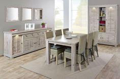 ARVALE - Superbe salle à manger qui égayera certainement votre intérieur ! Différentes compositions possibles et en plus, vous pouvez choisir entre différentes pieds pour la table | Meubles Toff