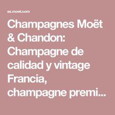 Champagnes Moët & Chandon: Champagne de calidad y vintage Francia, champagne premium de lujo