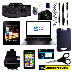 Here is a black collection of office supplies that you can buy online through MyOfficeProducts! Visit us online at www.myofficeproducts.com  #myofficeproducts #myop #keyboard #mouse #binderclip #paperclip #gelpen #pen #sharpie #tablet #acer #hp #laptop #clipboard #scaner #gps #garmin #ink #scissors #tech #black