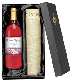 A gift of a bottle of rosé wine is always acceptable for any occasion but this bottle of personalised rosé wine turns the occasion into a special one