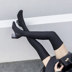 529856e733892 68 Best Thigh High Sock Outfits images in 2017 | Boots, High boots ...