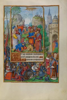 Master of James IV of Scotland (Flemish, before 1465 - about 1541) - The Israelites Collecting Manna from Heaven
