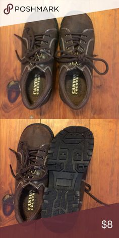 Super cute shoes by Canyon Country Adorable shoes. My daughter wore them but could also be used for a little boy. Show no signs of wear. Plenty of life left in them. Canyon Country Shoes Dress Shoes