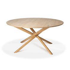 Oak Circle round dining table | 163 cm Solid Oak Furniture, Wooden Furniture, Table Furniture, Circle Dining Table, Solid Oak Dining Table, Dining Tables, Dining Room, New Shape, Bars For Home