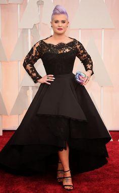 Celebrity Dress Black High Low Formal Occasion Dress