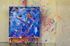 Abstract painting by Metro Meteor.