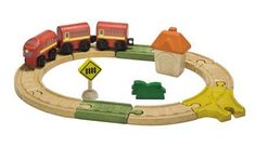 PlanToys City Road and Rail Oval Railway