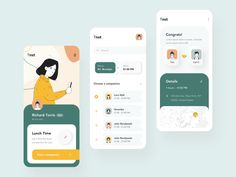 Luncher app interaction designed by Taras Migulko. Connect with them on Dribbble; Web Design Mobile, Graphisches Design, App Ui Design, User Interface Design, Flat Design, Design Thinking, App Design Inspiration, Daily Inspiration, Design Typography