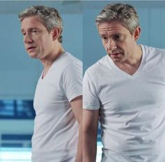 How in the hell can he make a dad undershirt look so sexy. #MysteriesOfMartin