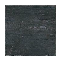 Noir Honed Travertine 4 x 4 in Accent tile for floors @ The Tile Shop