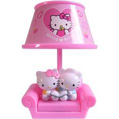 Hello Kitty and Dear Daniel lamp Hello Kitty Lampe, Hello Kitty Haus, Hello Kitty Nursery, Hello Kitty Rooms, Little Girl Rooms, Little Girls, Hello Kitty Zimmer, Sweet Home Design, Baby Friends