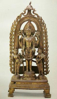 Lord Viṣṇu, Trivikrama formBronze, circa 11th Century CE, Bengal