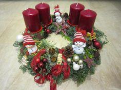 adventskranz weihnachtskranz wei rot mit eisb ren x mas. Black Bedroom Furniture Sets. Home Design Ideas