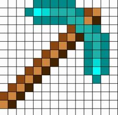 Minecraft diamond pickaxe grid