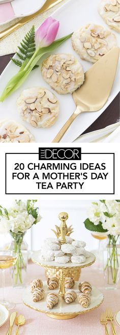 Surprise your mom this mother's day by throwing an elegant tea party.