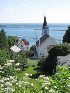 Mackinac Island above Sainte Anne's Catholic Church