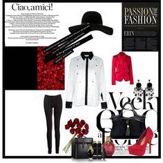 """Black-White-Red"" by elisabeth-eidenberger on Polyvore"