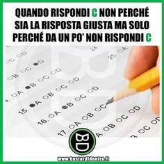 Rispondere C Seguici su youtube/bastardidentro #bastardidentro #compito #scuola www.bastardidentro.it