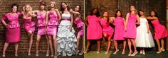 The Bridesmaid's stars finally have seen the picture of the copy cat pose of the Glee Maids that Harry Shum Jr made infamous when he had the Glee girls to pose like the original picture of the stars of The Bridesmaid movie! Maya Rudolph and Melissa McCarthy were shown the Glee picture on Oscar night and see what they had to say!