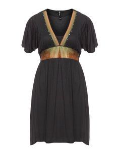 17 Sundays Jerseykleid mit Stickerei und Nieten in Schwarz / Bunt